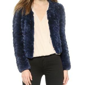 Alice & Olivia Marlene genuine fur jacket